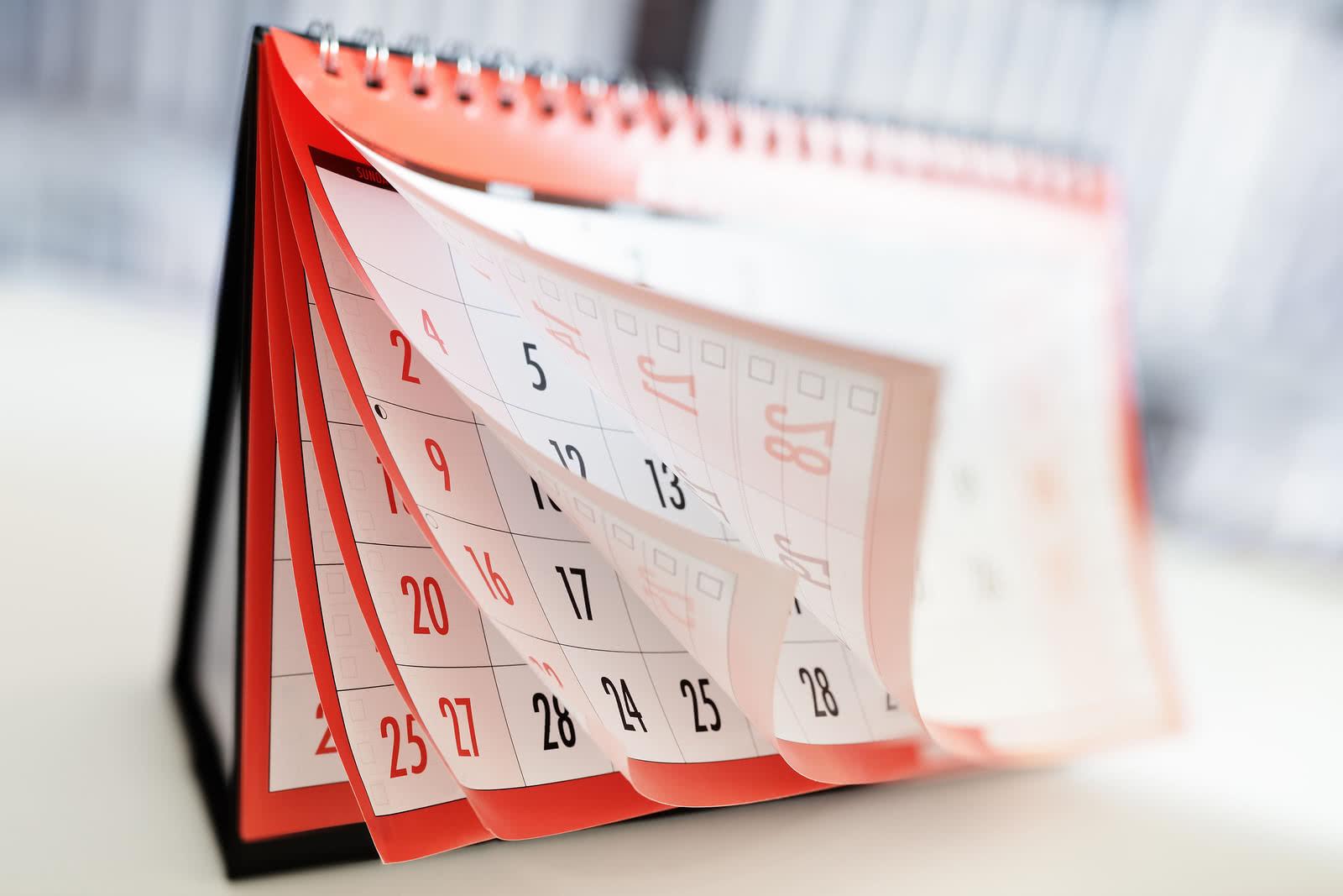 National Funding desk calendar