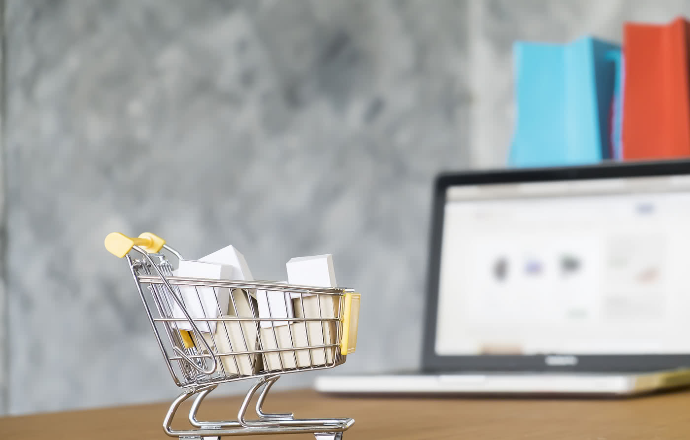 A miniature grocery cart for your website