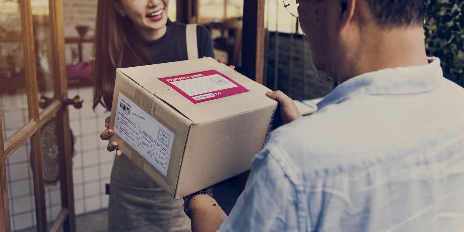 Holiday shipping of package to small business owner