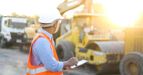 Construction worker considers the sale of business assets