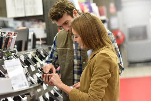 Store owner helps customer with purchasing decision, the last sales pipeline stage