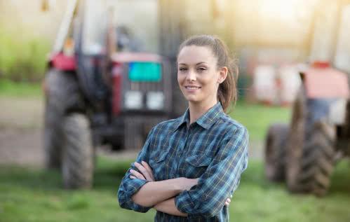 A female farmer maintains profitable farmin